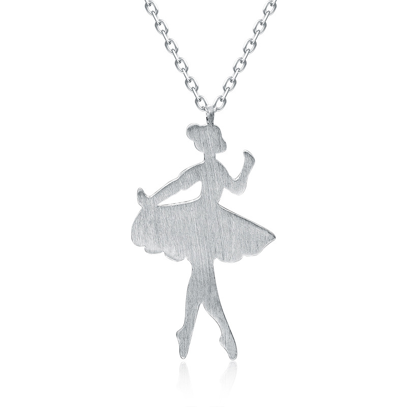Lovely Originality Doll 925 Sterling Silver Jewelry Necklace