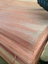 Masterpiece Natural 0.5mm 4'*8' Okoume wood face veneer for Door furniture Linyi factory professinal manufactures