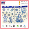 Customized christmas stickers for glass windows removable wall sticker