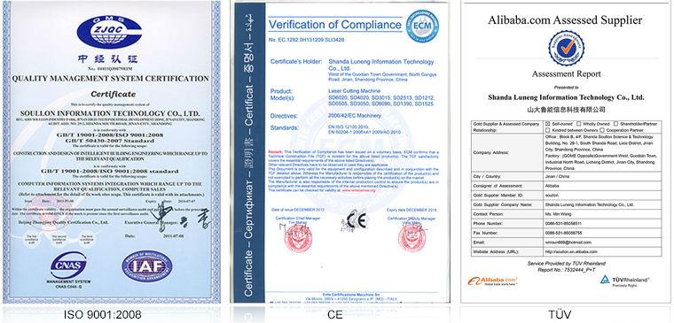 yag laser cutting machine part certification
