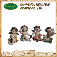 Set 4 Resin Baby Angel And Cherub Statue For Home Decorate