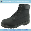 Black color nubuck leather rubber sole goodyear welted mens safety shoes