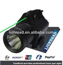 LionRead tactical 3 Watt Lumen LED Green and Red Dot laser sight with flashlight