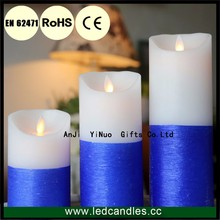 Set of 3 Flameless Wax LED Candle, Candle Set Operated by Battery