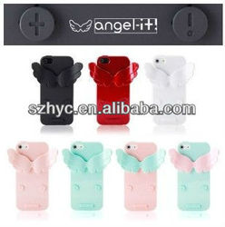 Adjustable devil and angel wings plastic mobile case