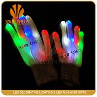 LED Light Gloves for Christmas Party Decoration,Multipe Color White Cotton Nylon Led Light Gloves