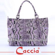 Fashion women's snake PU handbag