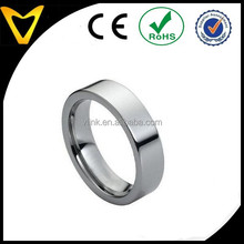 Hot Unisex Tungsten Wedding Band For Women Men, Tungsten Carbide Mens Women Wedding Ring 6mm Polished Shiny Flat Pipe Cut Style