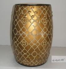Chinese porcelain golden garden grain ceramic stool