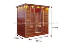 4 person used infrared hemlock wood sauna rooms