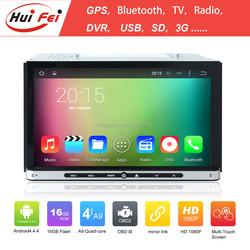 Huifei Android 4.4 A9 Quad Core 2 Din Detachable Tablet Car Dvd Gps Capacitive Touch Screen 1024*600 Obd Dvr Mirror Link