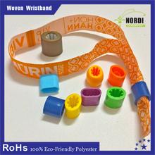 2015 High Quality Polyester Wristband theme festival woven wristband