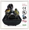 Aves de resina decorativa pequeña fuente de agua