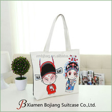 Manufacture wholesale large capacity reusable canvas tote bag for shopping or school