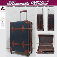 2015 New PP vintage trolley luggage vintage suitcase carry case pp plus pvc luggage