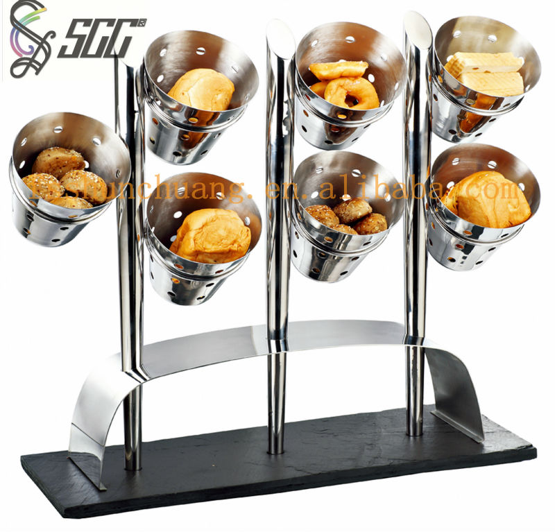 Distinctive Stainless Steel Buffet Stand Food Display
