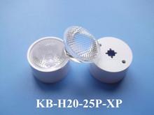 Led fousing lens para LED teto downlight 25 grau com suporte e fita para Cree LED