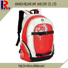 Fashion polyester high school backpack ,strong waterproof travel sports laptop backpack