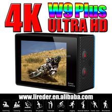 CE Certification 4k helmet sport action camera W9 Plus /Action Video Camera W9+ SJ4000 Wifi