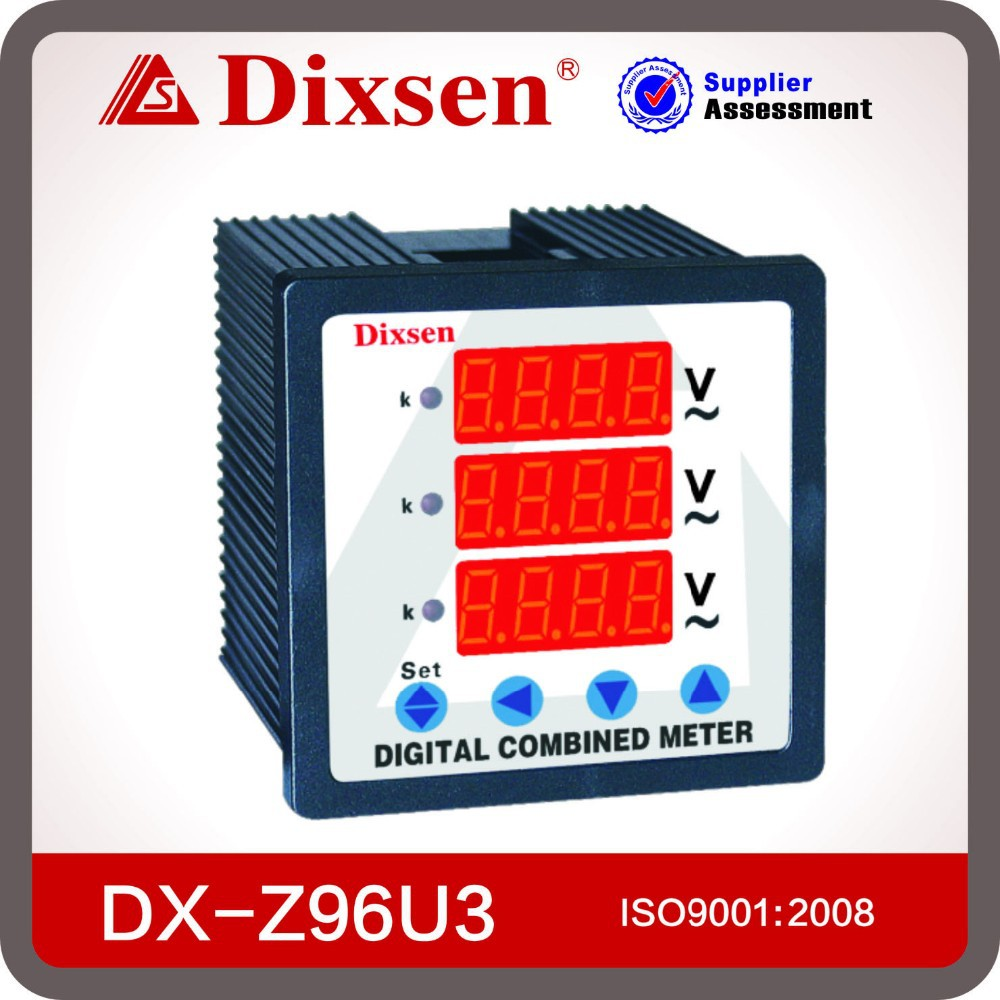 Three Phase Voltmeter : Digital ac three phase voltmeter view