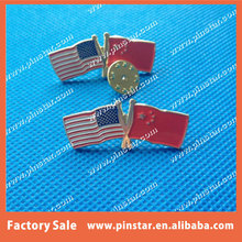 Cheap Cheap Cheap! We Can Make Assorted Double Flags Cross Flags Lapel Pin With Any Two Friendship Countries