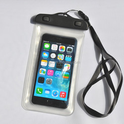5.5 inch Waterproof transparent mobile cellphone bag for swimming and diving