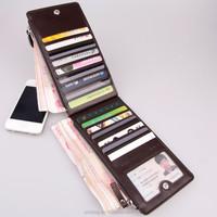 Pu smart card wallet for men