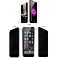 Super supplier 2.5D &0.33mm Privacy anti-fingerprint tempered glass screen protector for iphone 5/5s/6/6 Plus