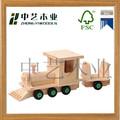 China factory fornecedores FSC & SA8000 DIY pequenos de madeira caminhão montagem brinquedo para crianças educacional