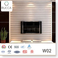 Ecological Wood Plastic Composite WPC Bathroom Wall Tile Designs , PVC Decorative Wall Panel of Home,Restaurant 204*16mm
