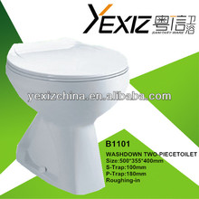 b1101 tocador de cerámica de la fábrica de lavado de dos piezas de tocador tazón