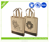 customized colorful flower printing brown paper shopping bag