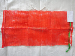red 30x60 PP tubular leno mesh bags for onions