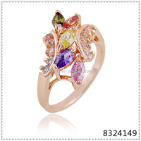 Fancy gold finger ring girls rings design for women with price