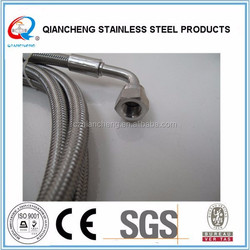 Teflon hose with 316 stainless steel braided for delivering chemical fluid