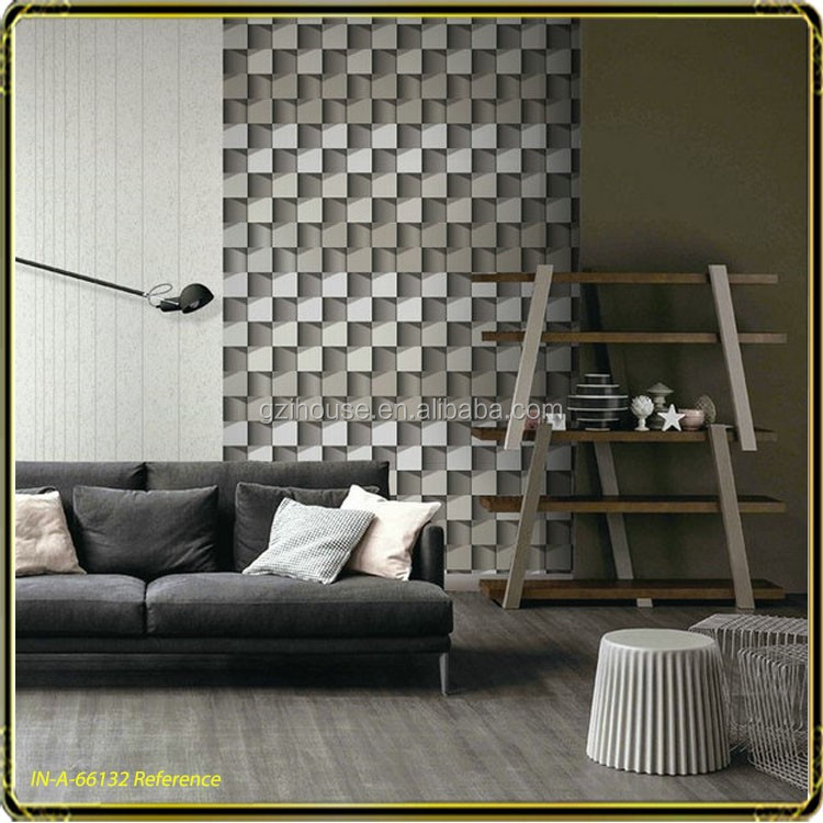 사각형 모양 디자인 3d 디자인 tv 백업 벽 거실 벽 벽지-벽지 또는 ...