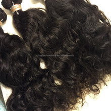 Wet and silky natural curl indian remy hair wefts wholesale