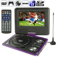 NS-789 7.0 inch TFT LCD Screen Digital Multimedia Portable EVD / DVD with Card Reader & USB Ports