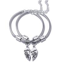Atacado mais novo jóias pingente dois conjuntos de mãe e filha shain liga de metal pulseiras