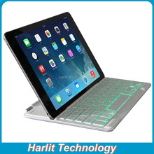 For iPad Air 2 Ultrathin Aluminum Bluetooth Keyboard Cover Case White, For iPad Air Slim Aluminum Bluetooth Keyboard Back Light