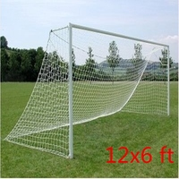 Brand New 12x6ft Full Size Football Soccer Goal Post Net Sports Match Training Junior New Polypropylene Fiber