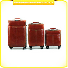 skyway luggage portable suitcase ladies PU leather suitcase