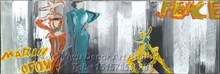 Modern Lady Canvas Oil Painting Abstract House decorative Painted canvas Painting