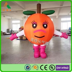 Custom cartoon inflatable fruit/ giant inflatable apple for advertising