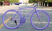 Cheap steel/alloy fixie bike on sale factory produce purple color fixed gear bikes
