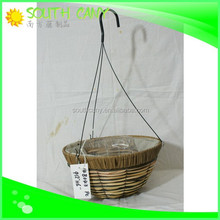 Attractive price round handicraft plastic flower hanging pots