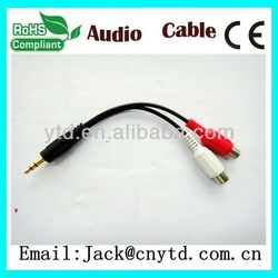 Hot Saling 2 rca to 3.5mm audio cable Super speed