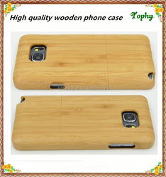 2015 100% real wood phone case for samsung note 3 5, bamboo for samsung note 3 5 wood case