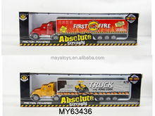 American style free wheel diecast truck model,1:87 metal truck toy,die cast container truck toy
