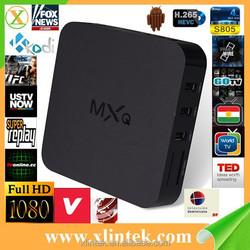 Factory MX box upgraded MXQ Amlogic S805 Quad Core Kodi 14.2 1080P Smart TV Box Android 4.4.2 MXQ TV Box